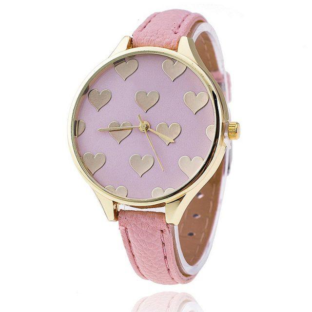 Elegant Hearts Printed Women's Quartz Wristwatch