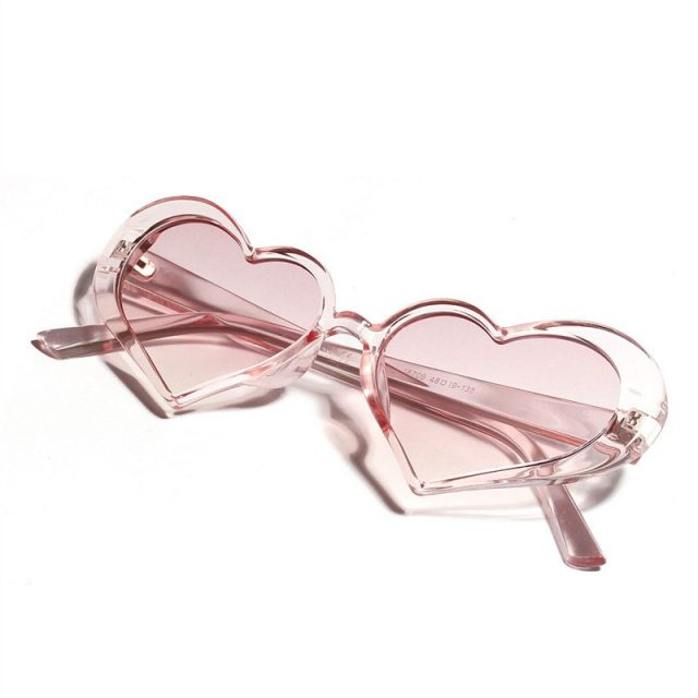 Vintage Women's PC Sunglasses with Heart-Shaped Lenses