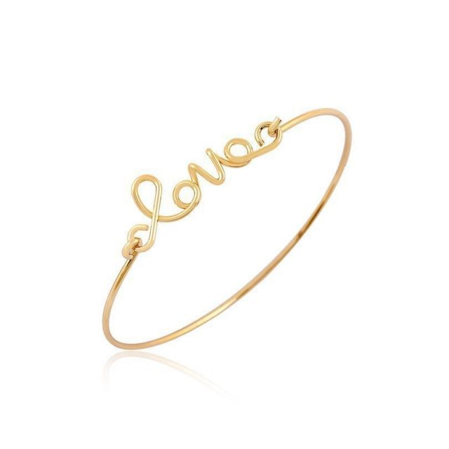 Trendy Gold/Silver Love Shaped Women's Bracelet